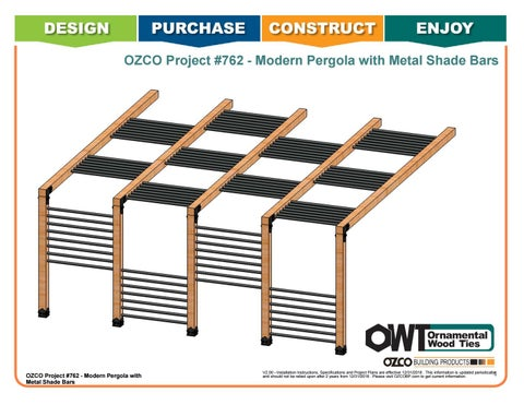 OZCO Project #762 - Modern Pergola with Metal Shade Bars