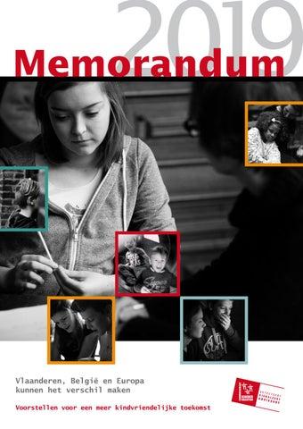 Memorandum 2019. Voorstellen voor een meer kindvriendelijke toekomst