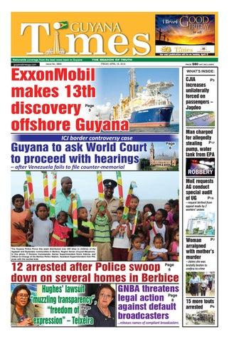 Guyana Times - Friday, April 19, 2019