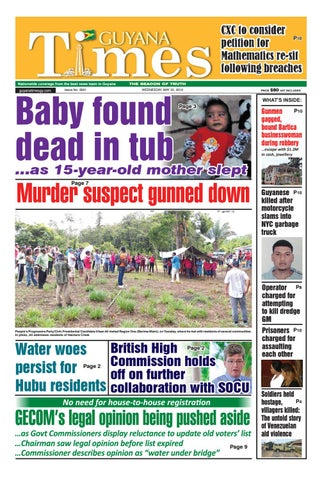 Guyana Times Wednesday May 22, 2019