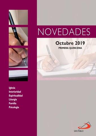 Novedades SAN PABLO 1ª quincena octubre 2019