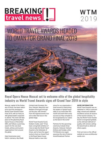 Breaking Travel News Special Edition - World Travel Market 2019