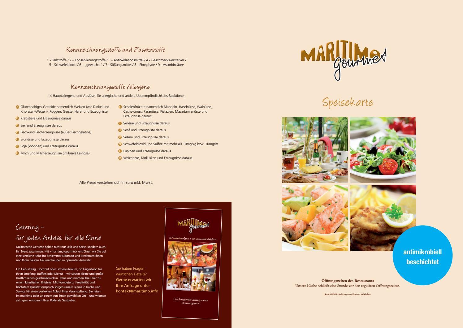 Aktuelle Speisekarte maritimo - maritimo Oer-Erkenschwick
