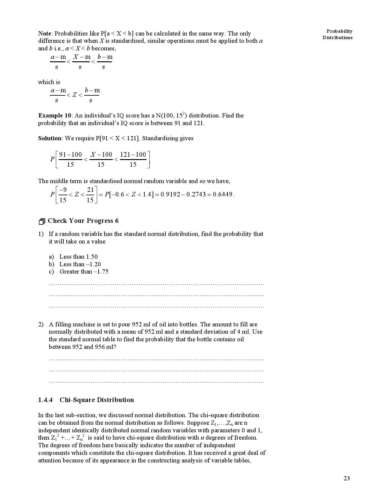How To Find Standard Deviation Chi Squared Solution For How To