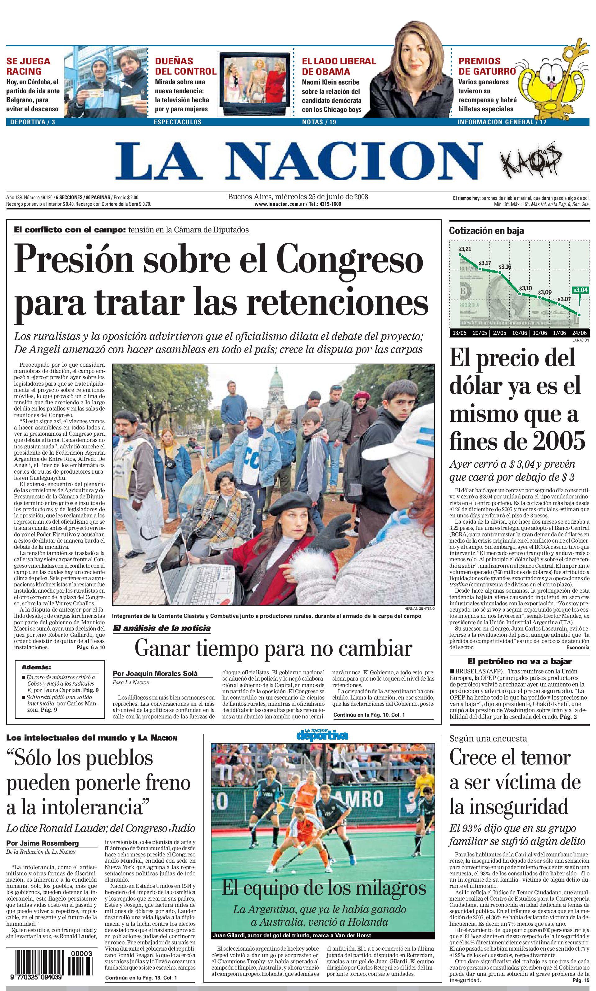 Diario la nacion argentina by teresa elguer issuu Noticias de espectaculos argentina