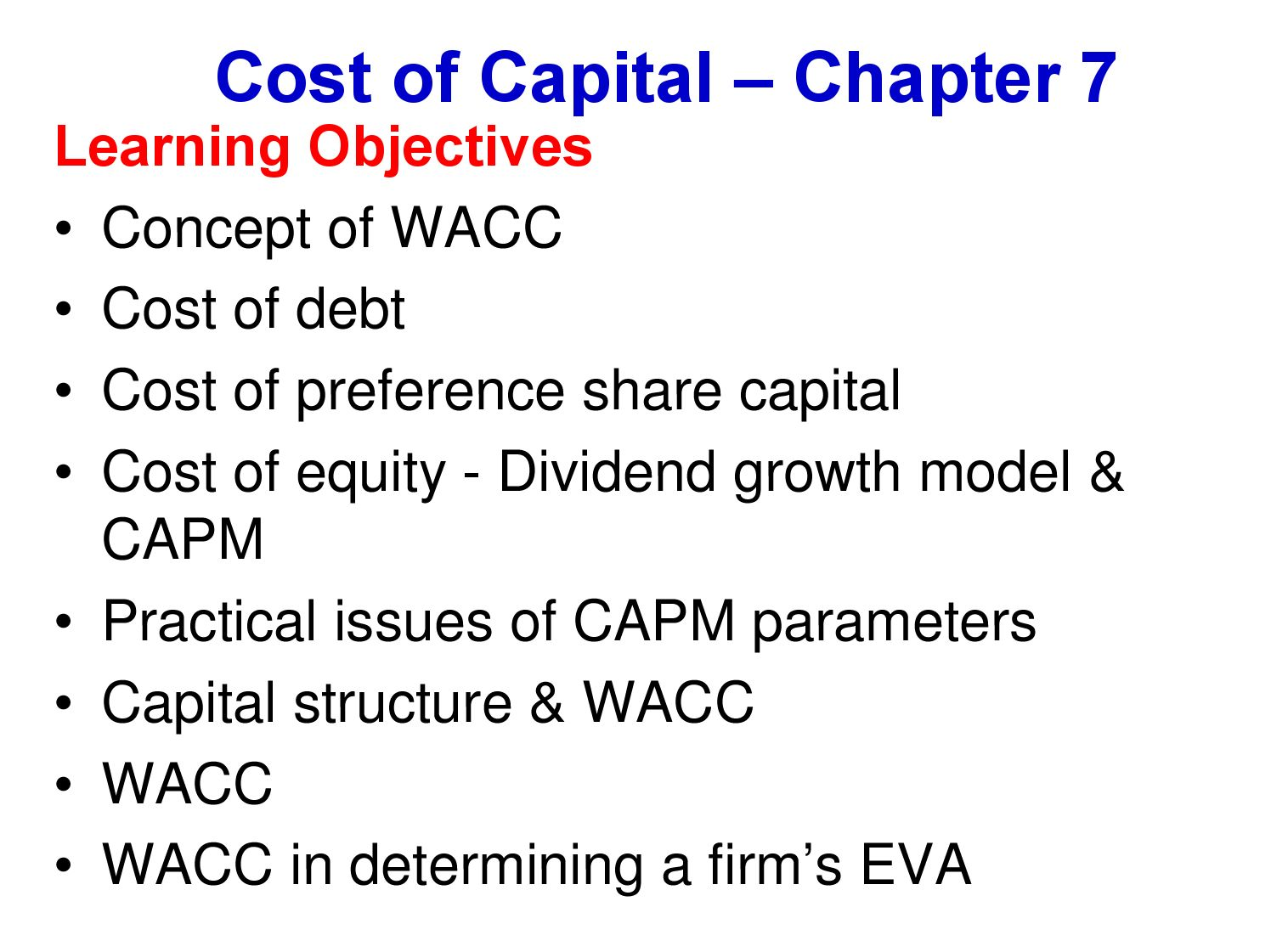 wacc research papers Advanced financial management: weighted average cost of energy and needs your help to estimate the weighted average cost of capital research papers.