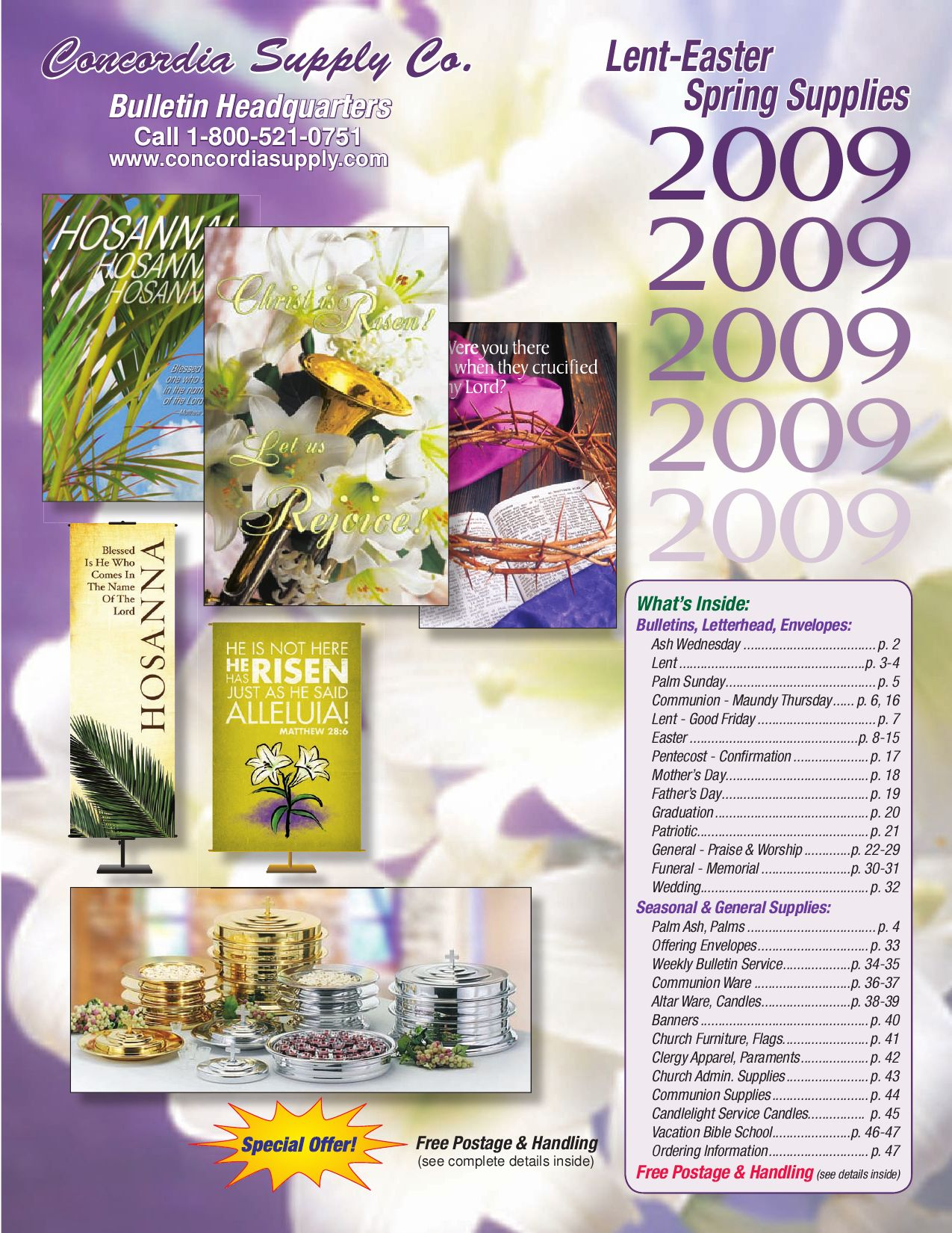 Spring 2009 bulletin church supplies catalog by danny b for Gardeners supply company catalog