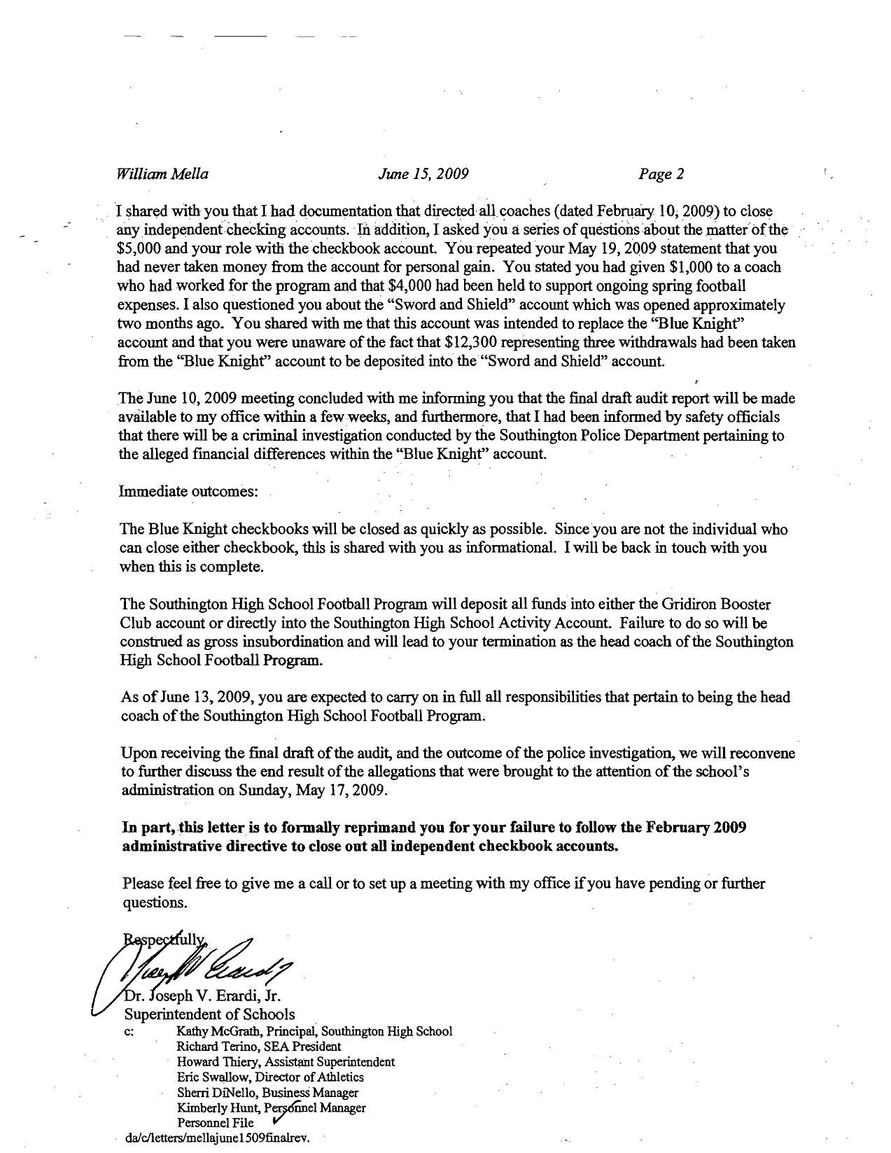 letter from superintendent erardi to william mella by record letter from superintendent erardi to william mella by record journal page 2 issuu