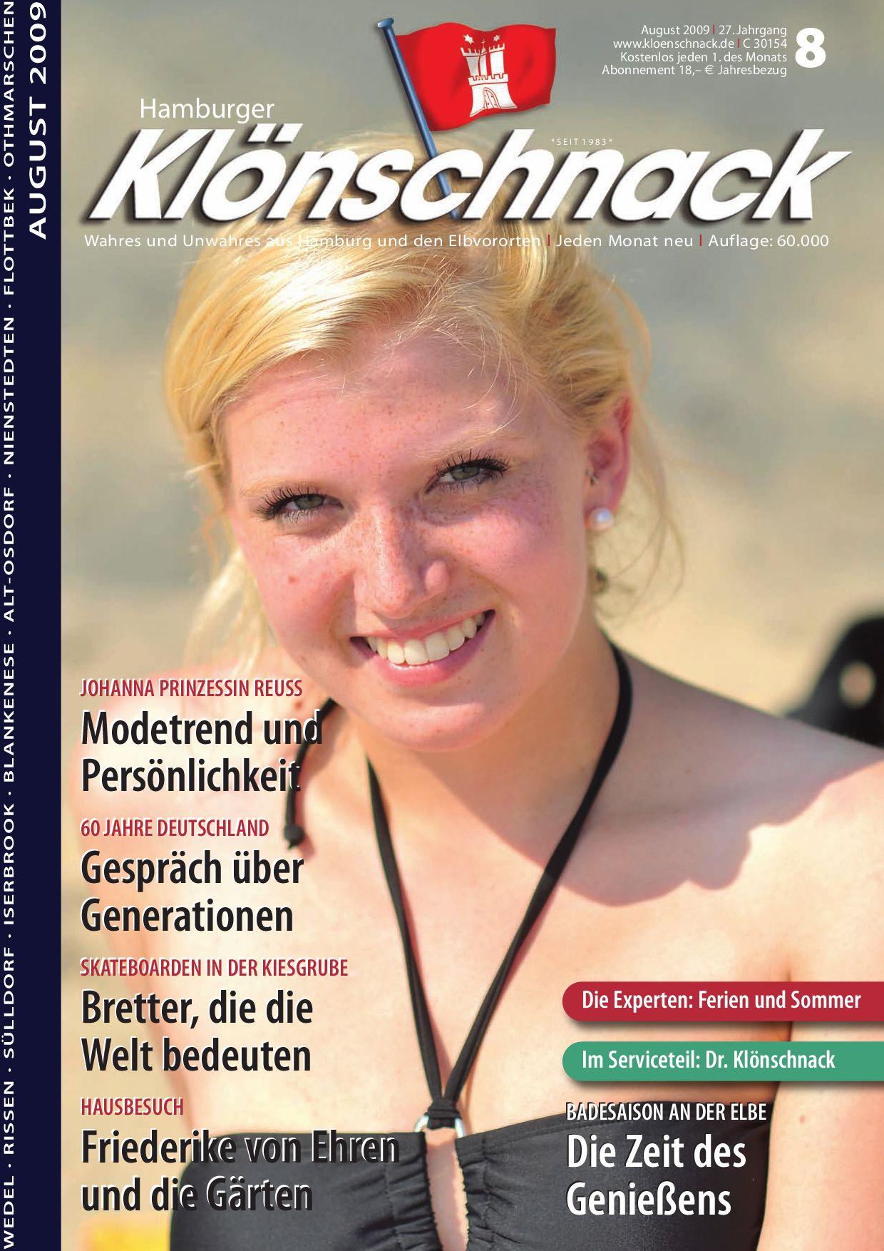 Hamburger kl nschnack august 39 09 by hamburger for Friederike von ehren