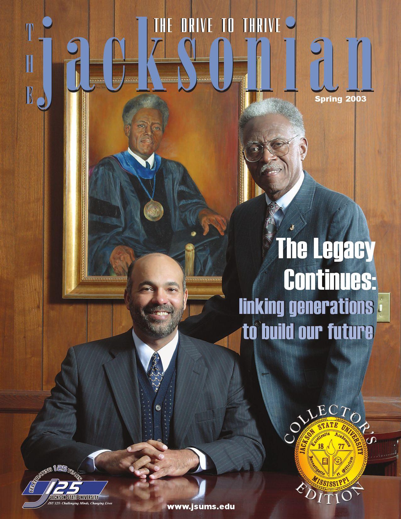Jacksonian 2003 By Jackson State University Issuu