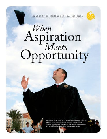 When Aspiration Meets Opportunity Viewbook 2009