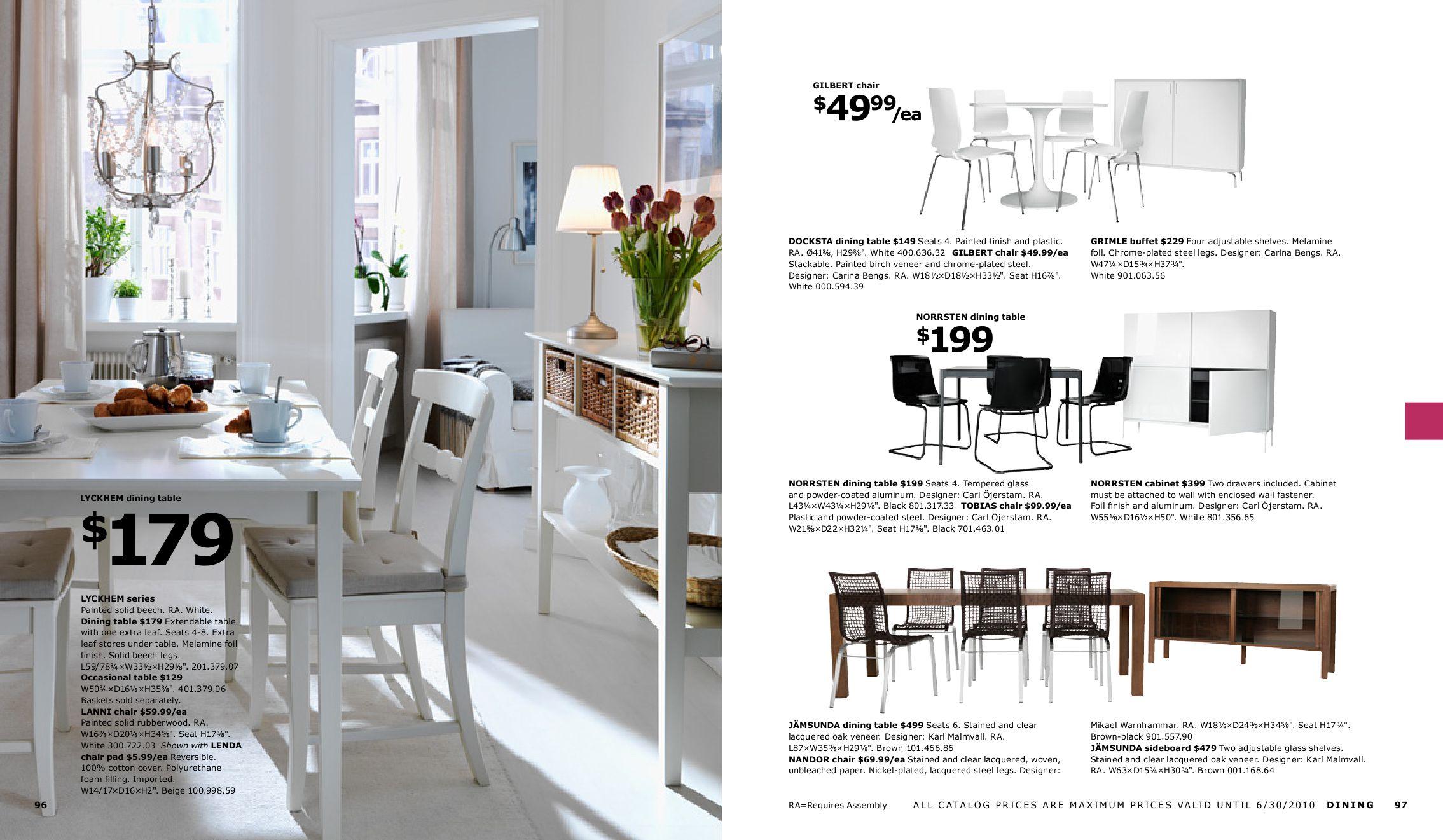 Ikea Esstisch Lyckhem ~ IKEA Catalog 2010 by Muhammad Mansour  issuu