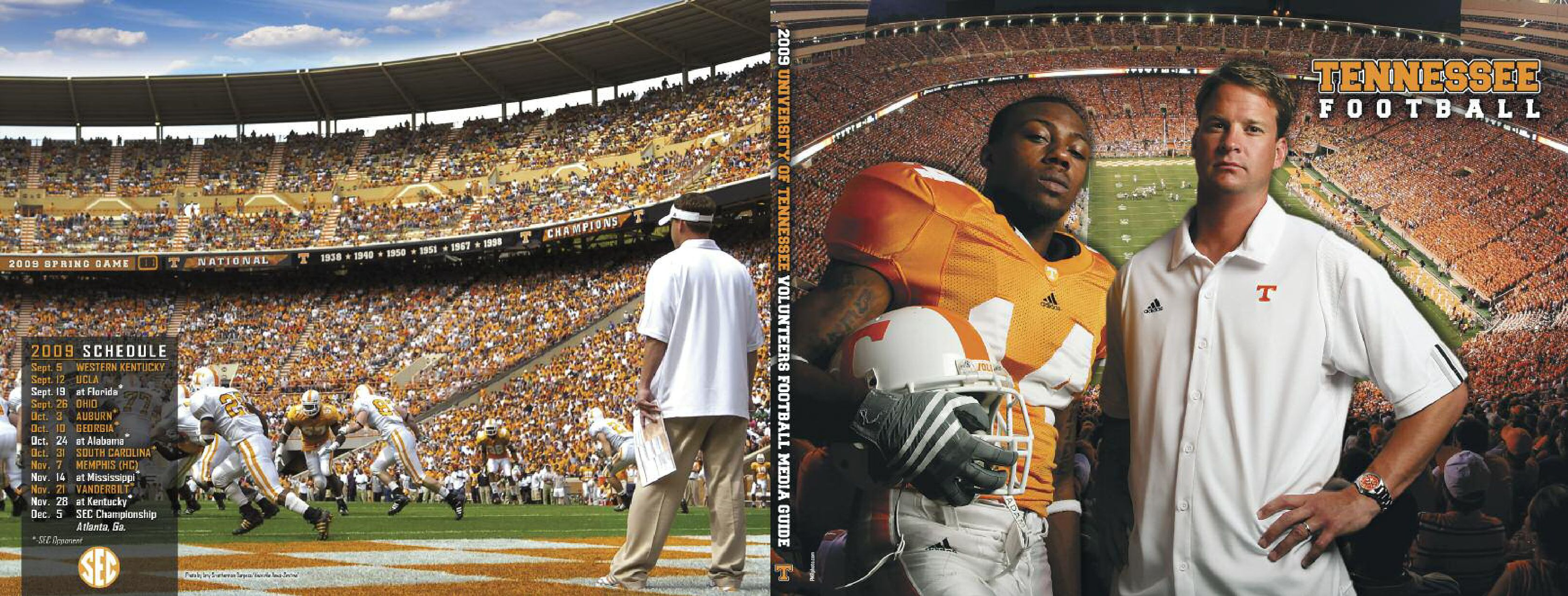 2009 Tennessee Volunteers Football Media Guide By Jeff