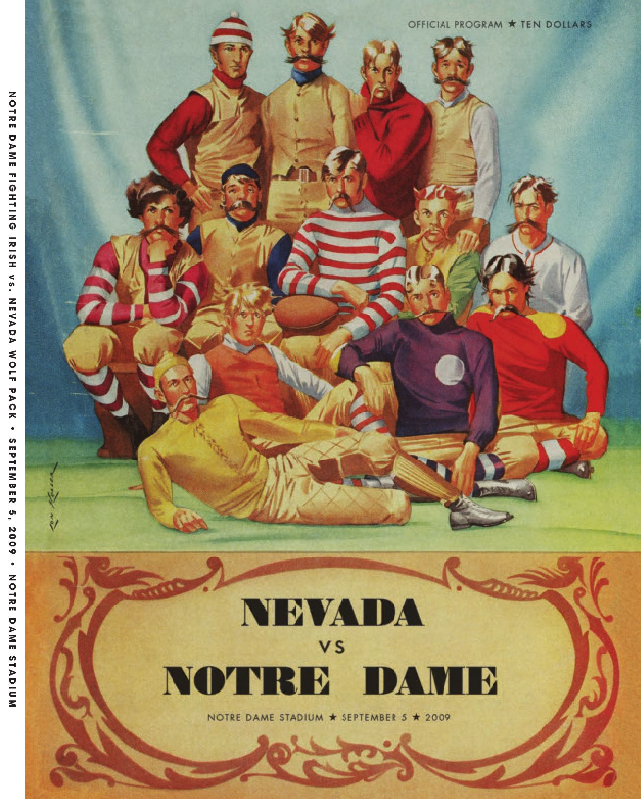 NFL Jerseys Cheap - 2009 Notre Dame Football Game Program - Sept. 5 vs. Nevada by ...