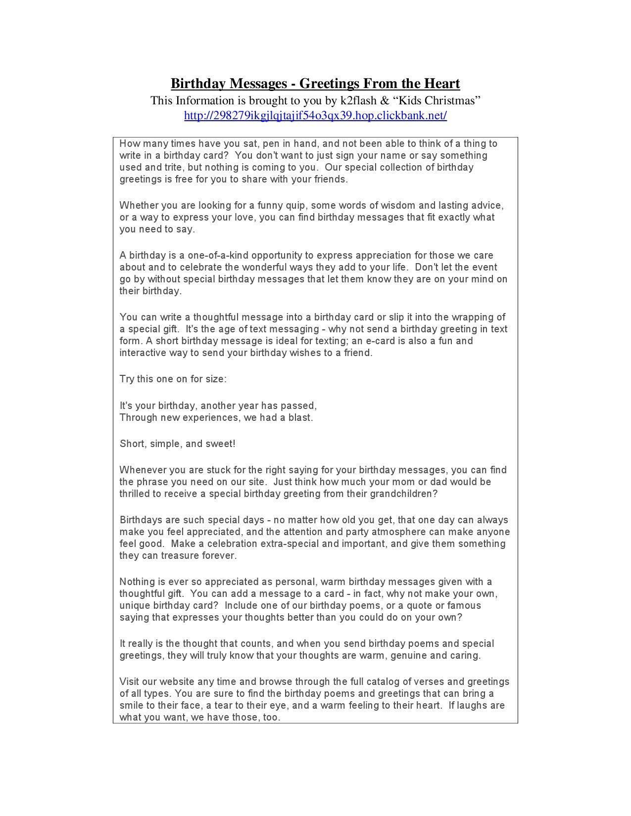 Birthday Messages by Steve Cruz issuu – Creative Birthday Card Messages