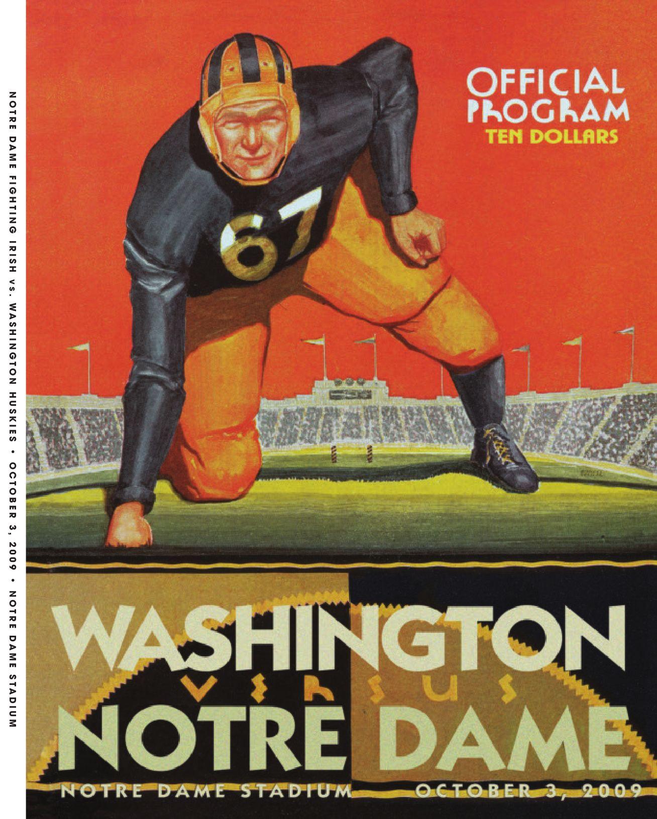 Nike NFL Jerseys - 2009 Notre Dame Football Game Program - Washington State by Chris ...