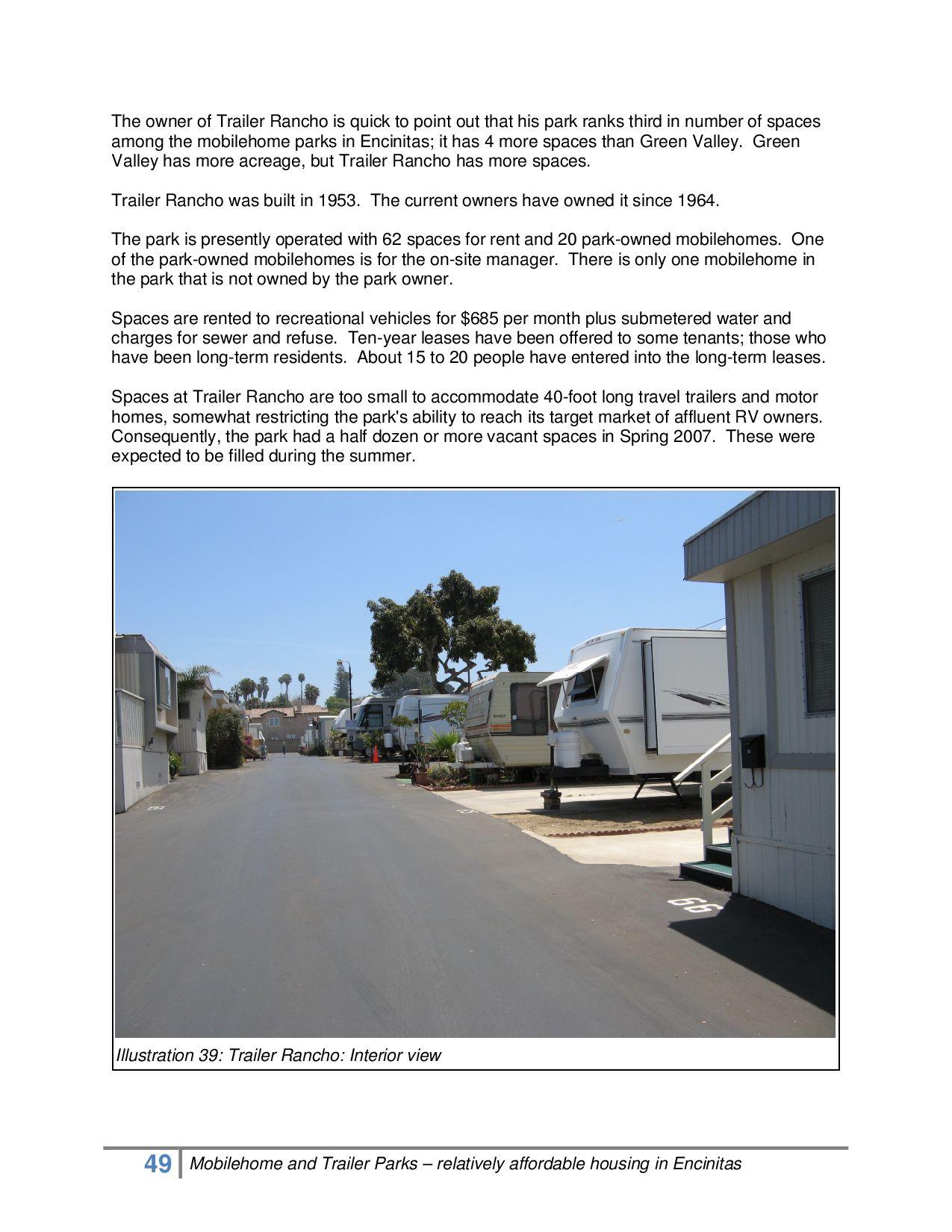 Encinitas Mobilehome And Trailer Park Study