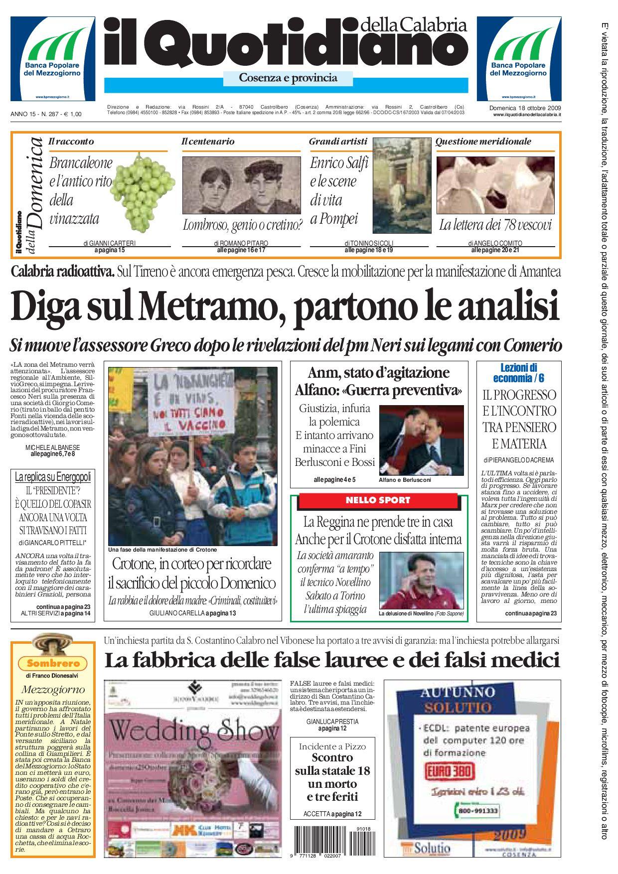 Il quotidiano della calabria by edoardo scaccia issuu for Abbellimento del lotto d angolo