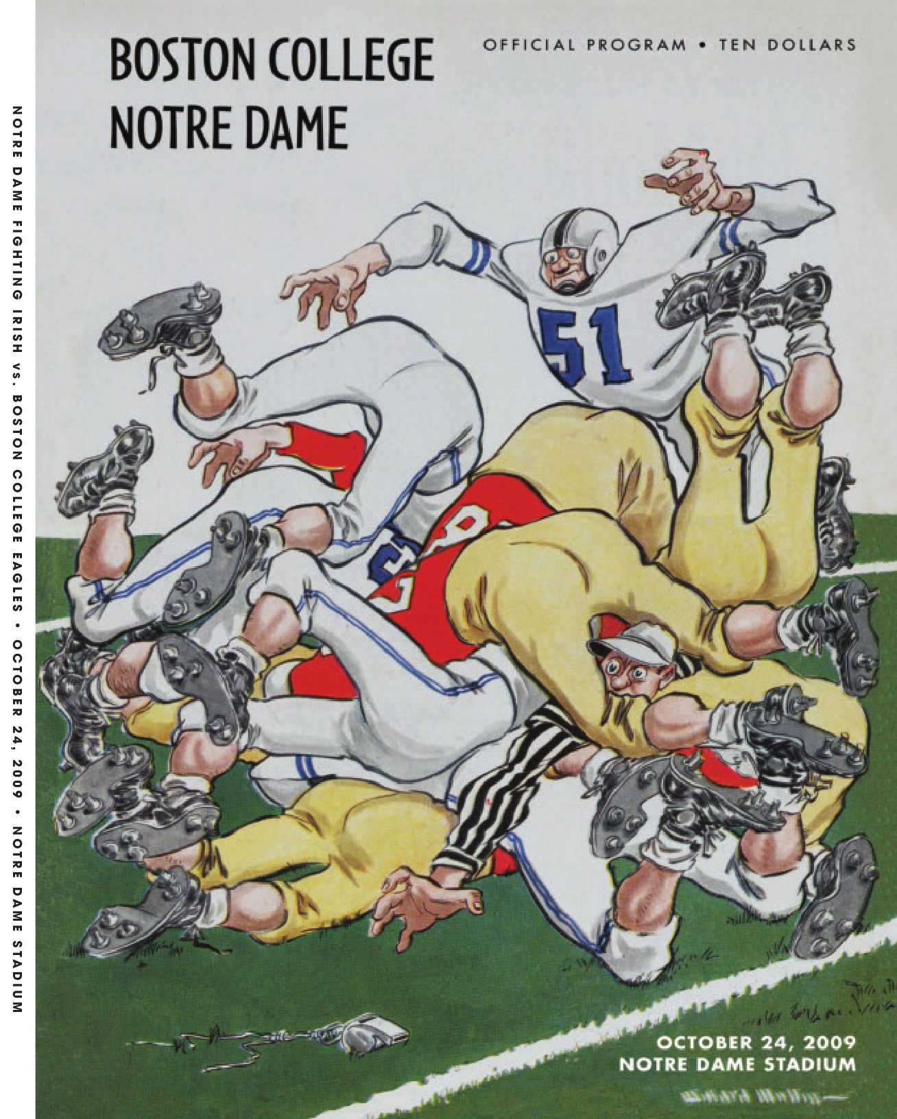 Cheap NFL Jerseys NFL - 2009 Notre Dame Football Game Program - Boston College by Chris ...