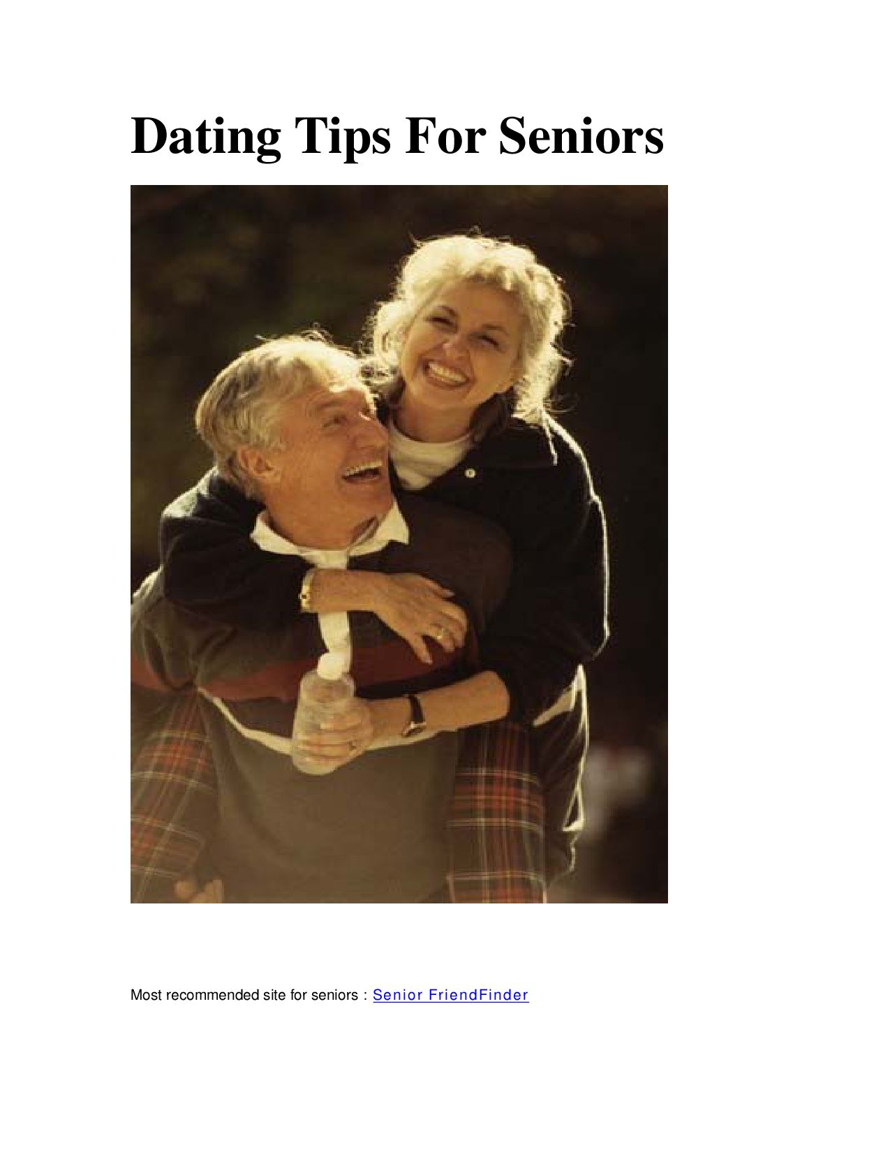 Dating advice seniors