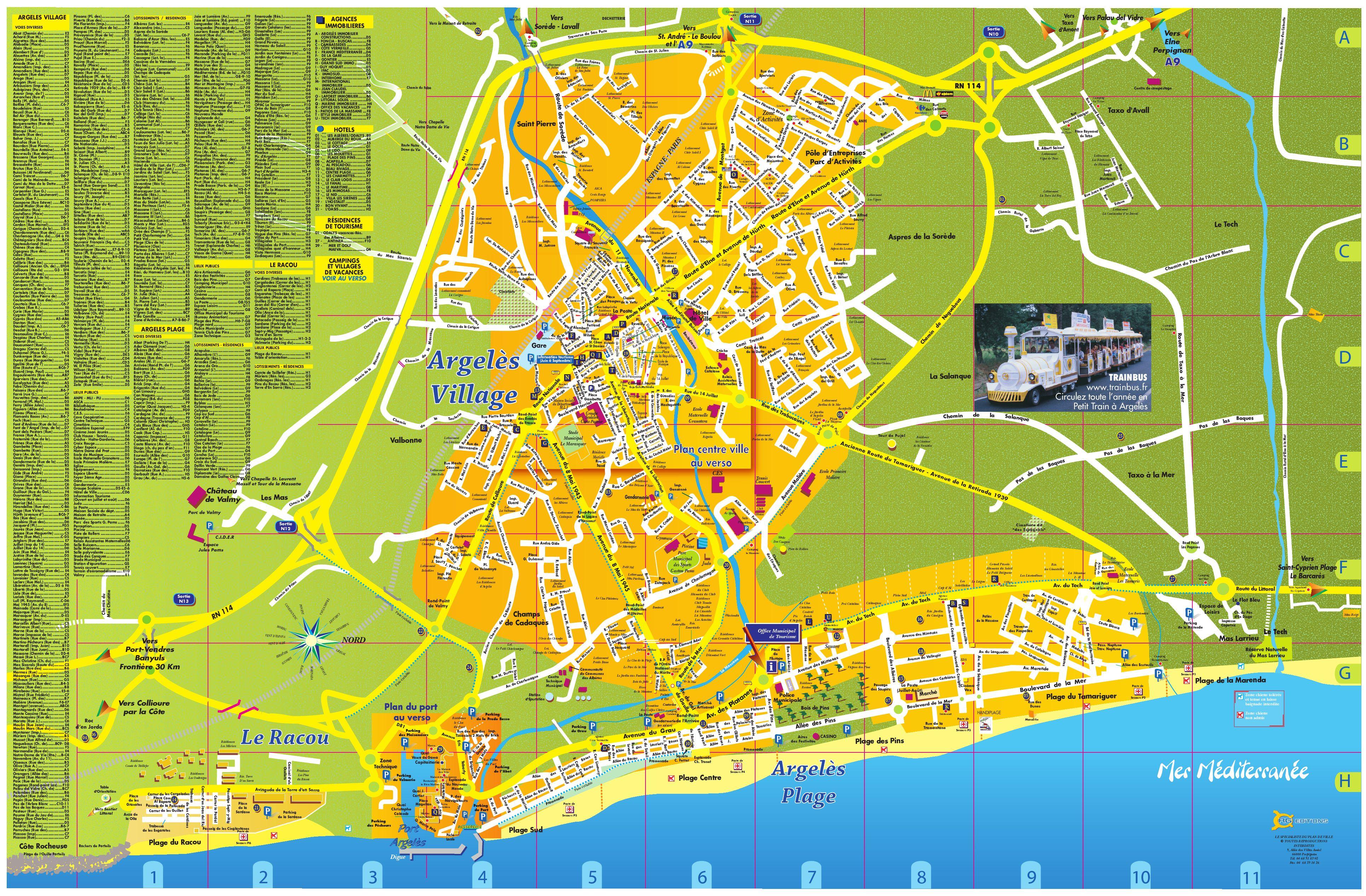 Plan Du Centre Ville D Argeles Sur Mer
