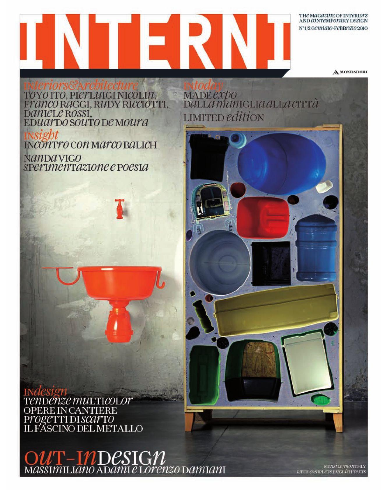 Interni magazine 598 gennaio febbraio 2010 by interni for Rivista interni