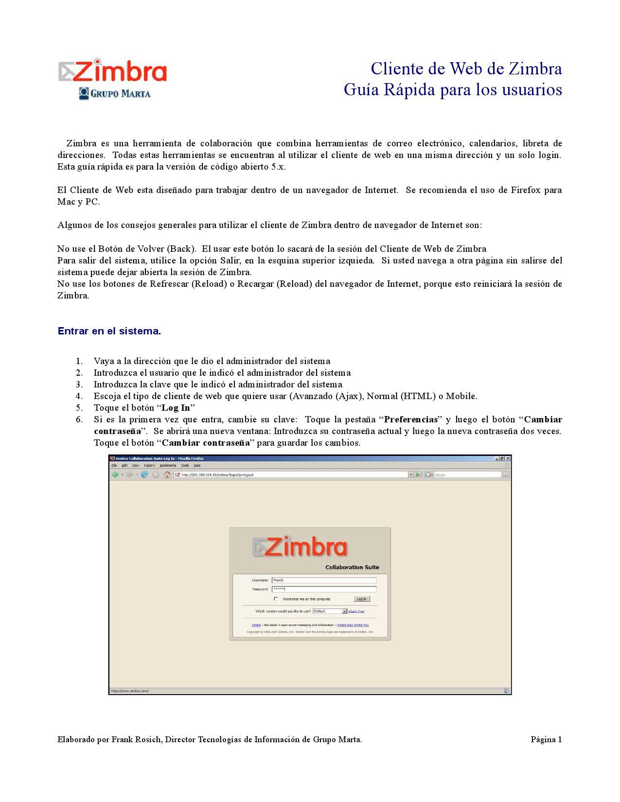 Guia Zimbra by Luis Eduardo Perez - issuu