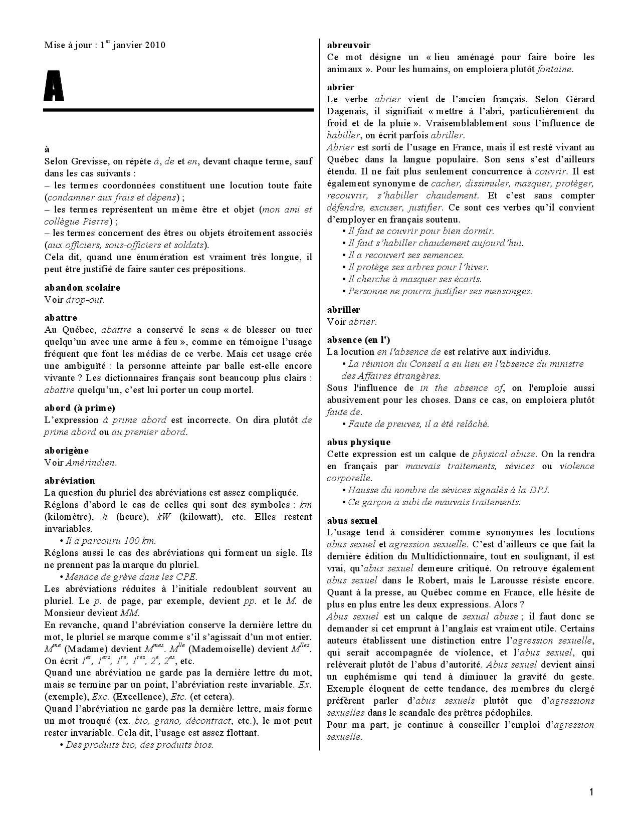 lexique des difficult u00e9s du fran u00e7ais dans les m u00e9dias by la