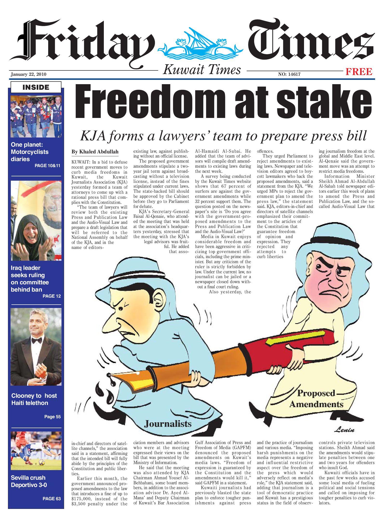22 Jan 2010 by Kuwait Times