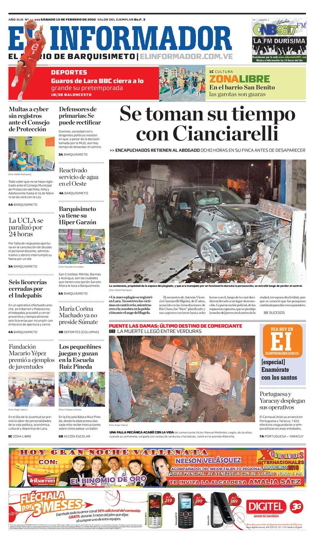 El Informador impreso 2010.02.13 by El Informador - Diario online Venezolano - issuu