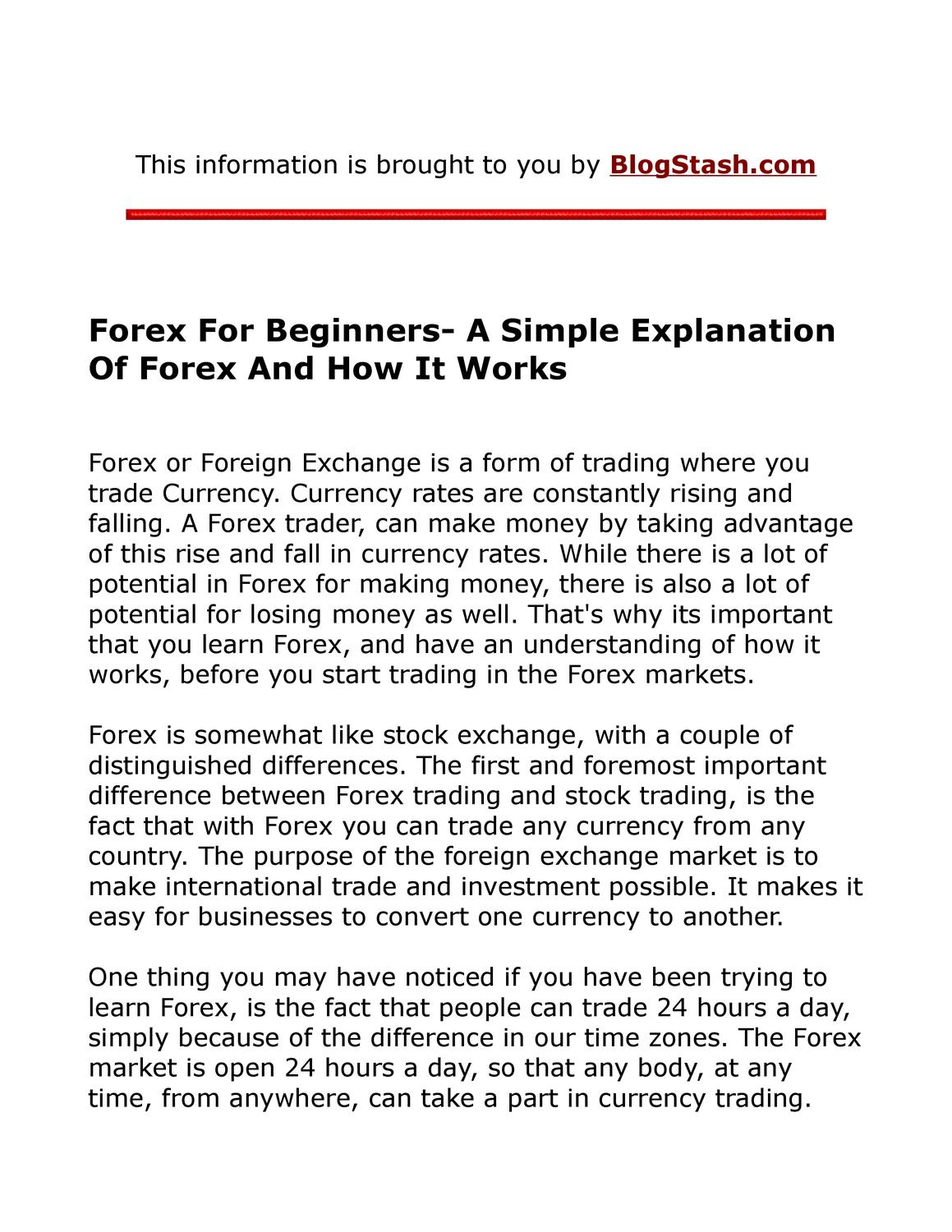 How forex works online