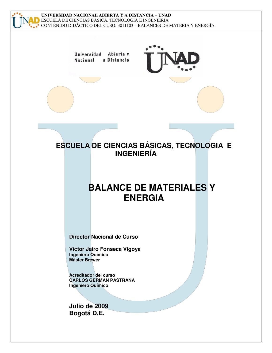 Balance De Materiales Y Energia By Victor Fonseca Issuu