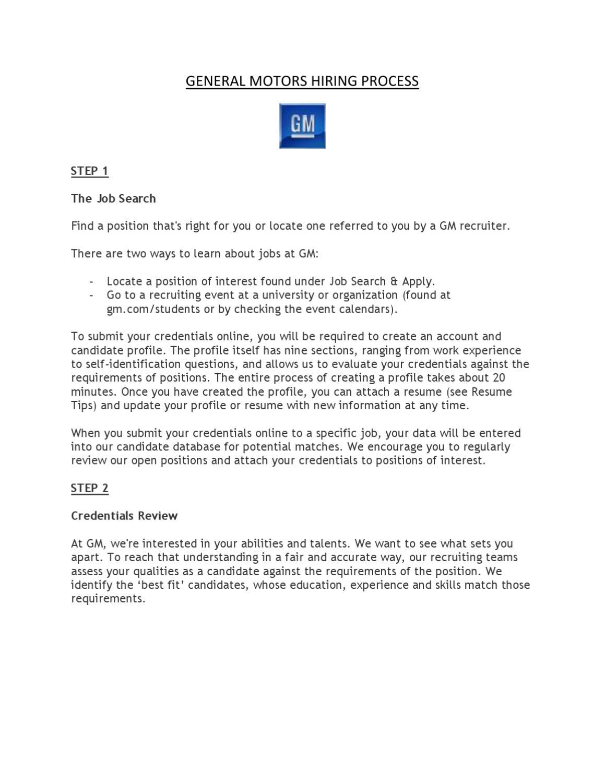 gm hiring process by general motors issuu