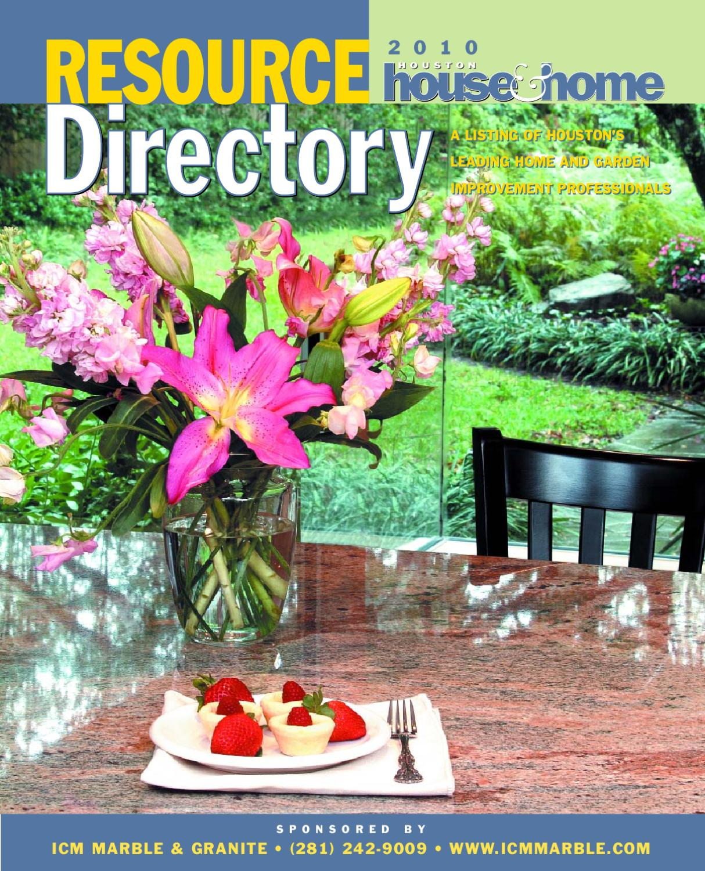 2010 houston resource directory by houston house home magazine. Interior Design Ideas. Home Design Ideas