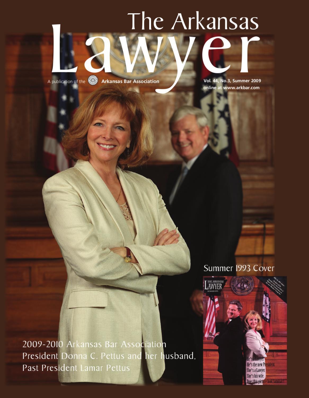 The Arkansas Lawyer - Summer 2009 by Arkansas Bar ...
