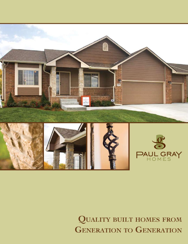 Paul gray homes by builder marketing design inc issuu - Design homes inc ...