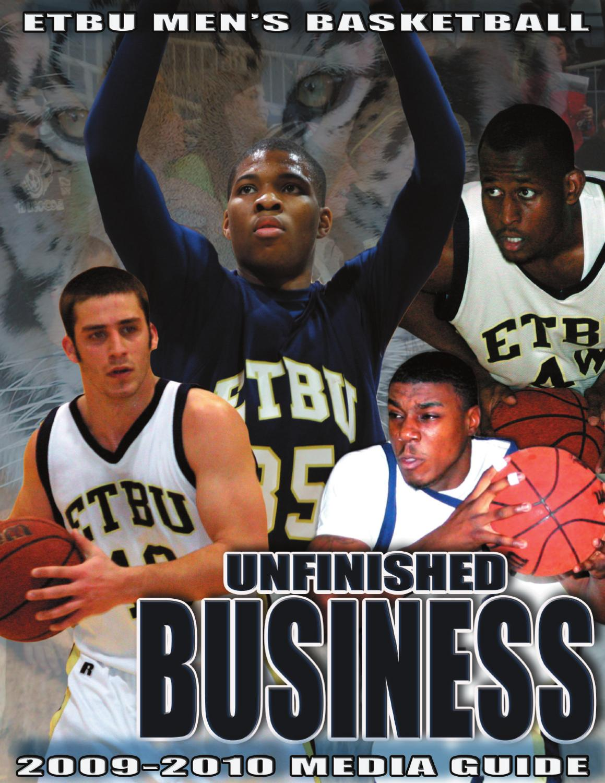 ISSUU - 2009-2010 ETBU Men's Basketball Media Guide by ...