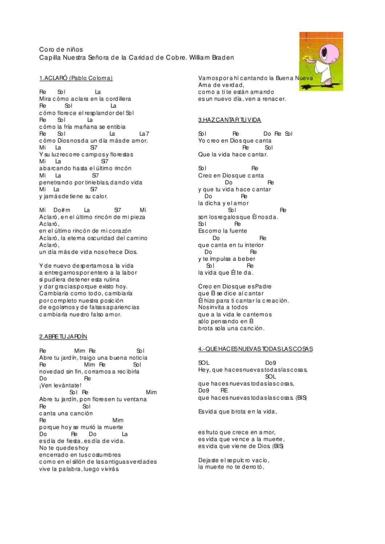 Cancionero by danny ulloa issuu for El jardin acordes