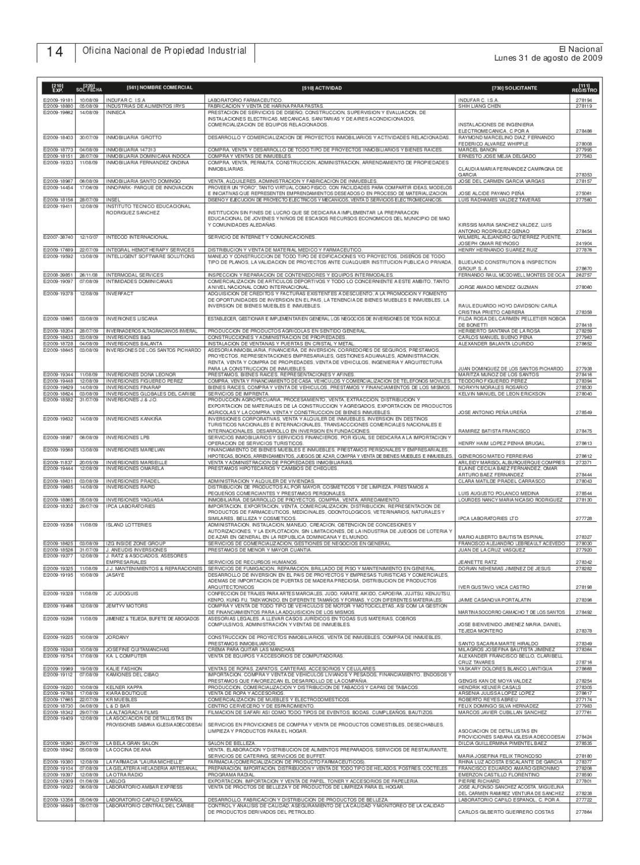 Onapi31ago20092 by oficina nacional de la propiedad for Oficina nacional de evaluacion