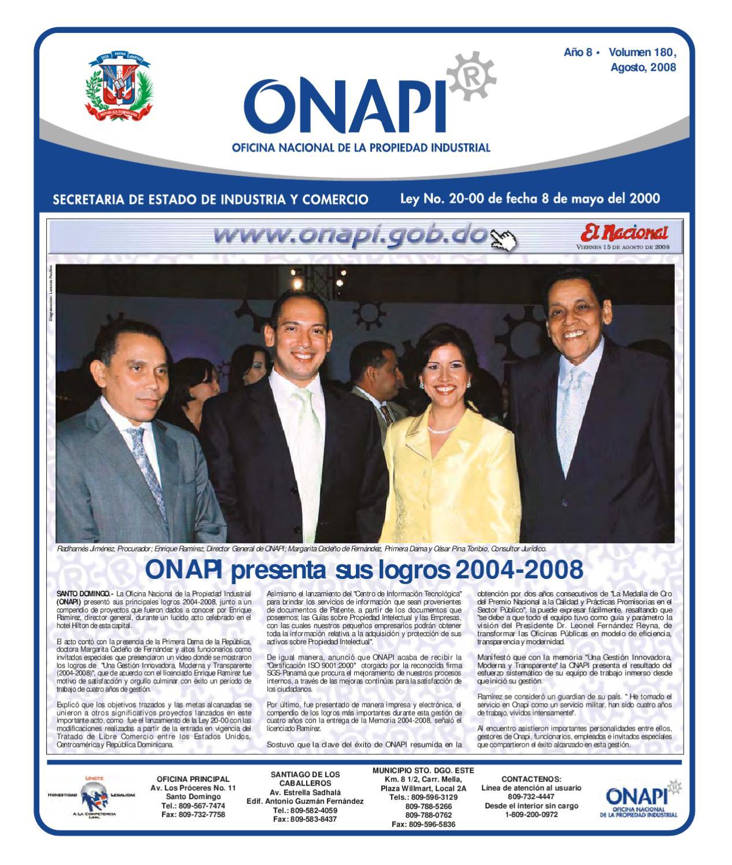 Onapi15ago081 by oficina nacional de la propiedad for Oficina nacional de fiscalidad internacional