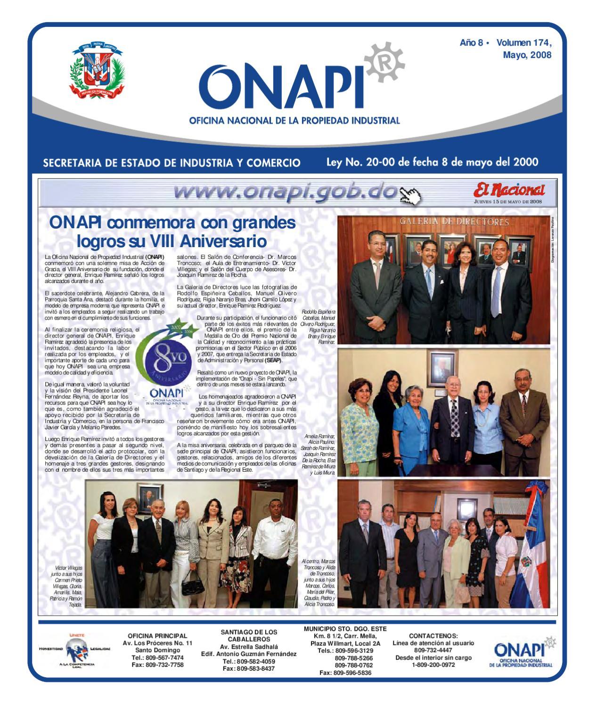 Onapi15mayo081 by oficina nacional de la propiedad for Oficina nacional de fiscalidad internacional