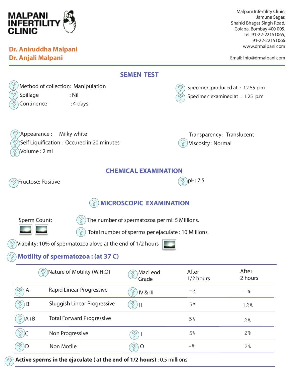 Sperm analysis viscosity level 4