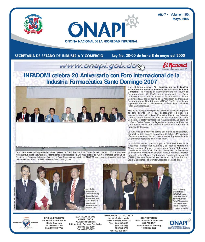 15 mayo2007 by oficina nacional de la propiedad industrial for Oficina nacional de fiscalidad internacional