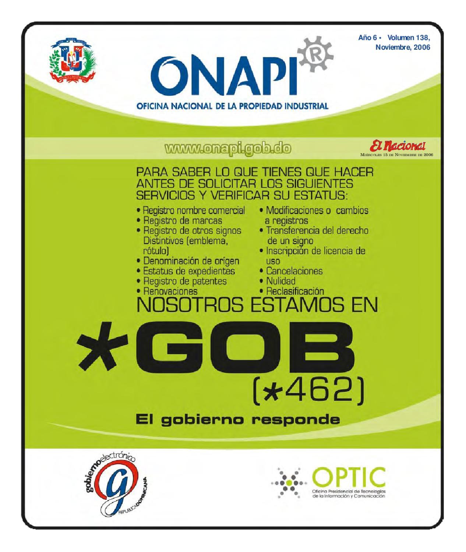 15 noviembre by oficina nacional de la propiedad for Oficina nacional de fiscalidad internacional