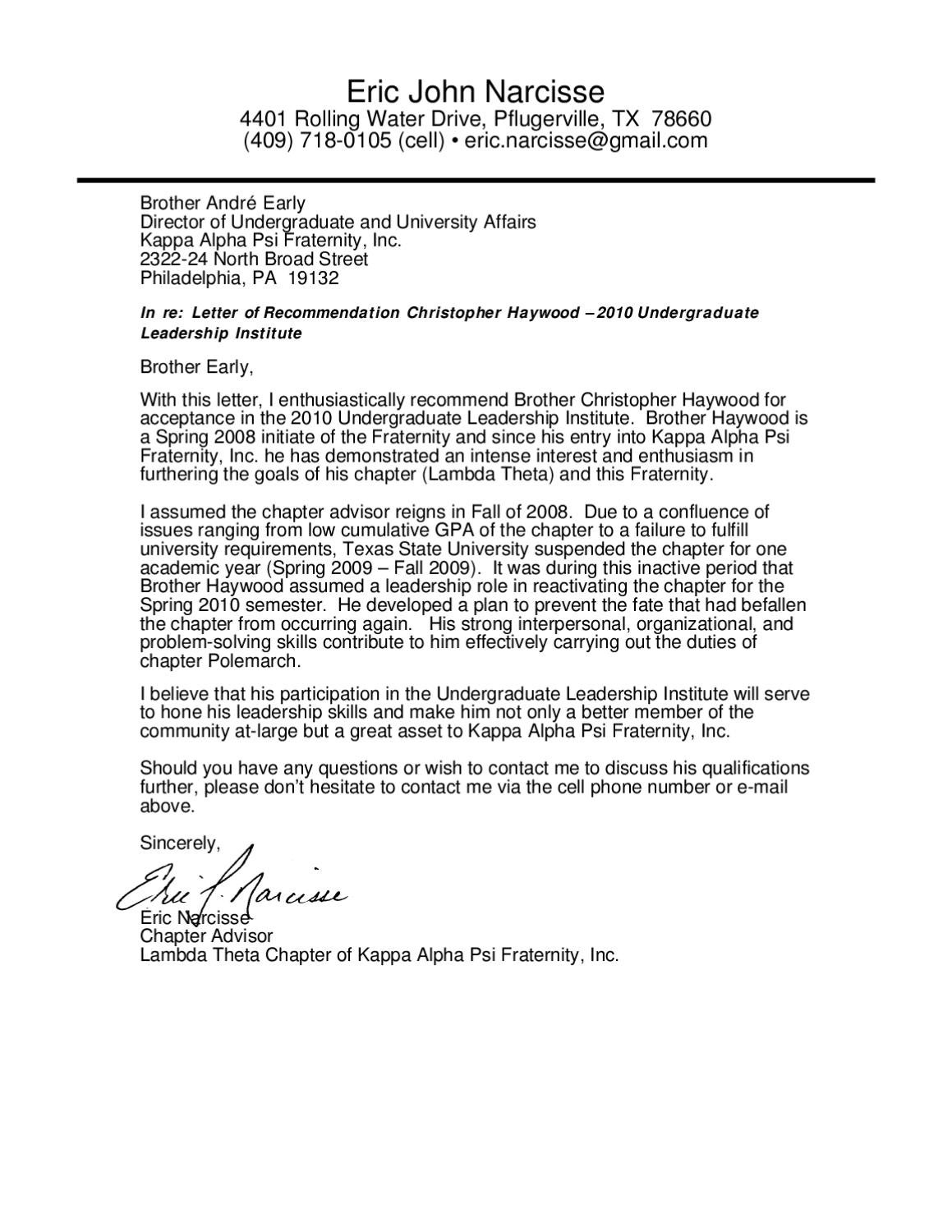 fraternity recommendation letter Therefore, both are welcome and encouraged to write a reference form (also known as a recommendation letter) for qualified pnms you may complete a form if you are an alumna member of the fraternity in good standing or an active college member of a chapter different than the one that a potential new member is seeking to join.