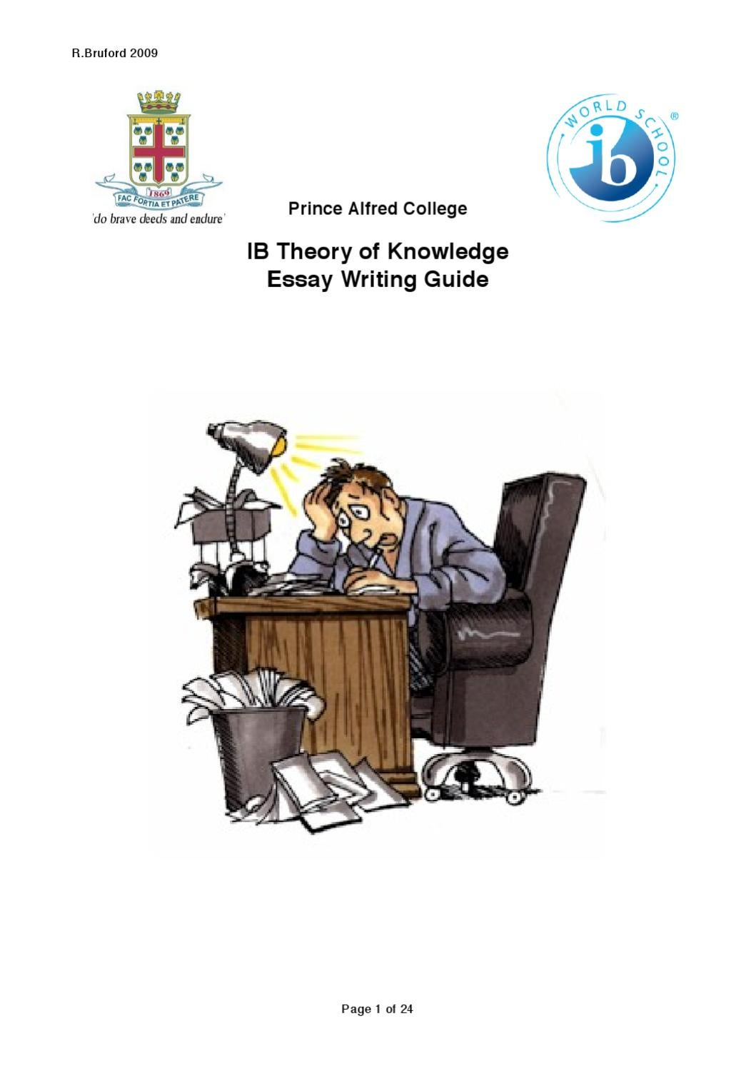 tok essay writing guide by noreen linforth