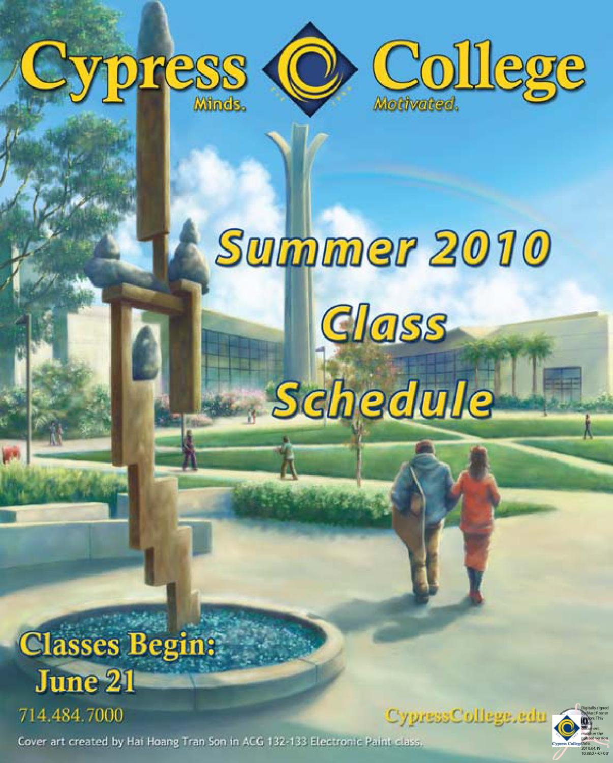 Cypress College Classes 58