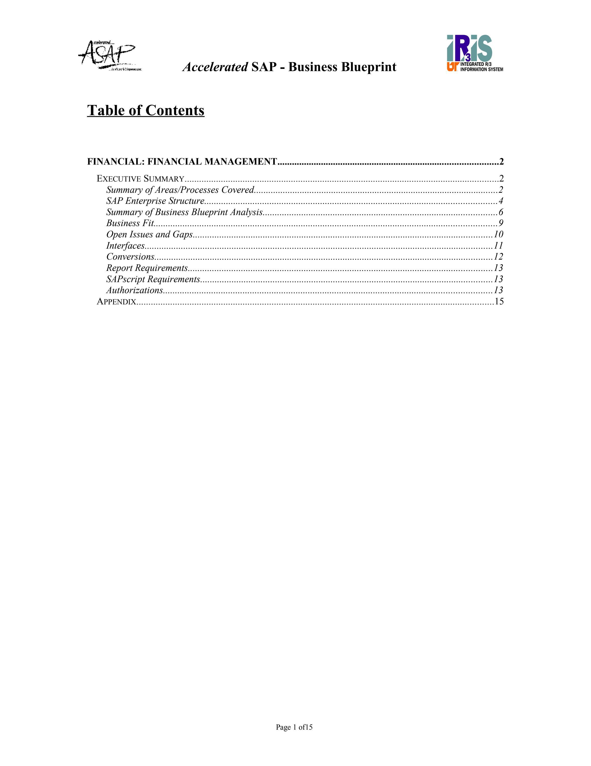 Sap fico blueprint free download