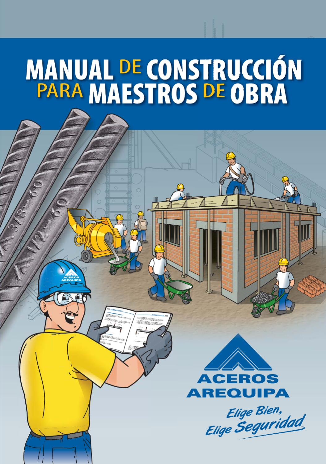 Manual de construcci n para maestros de obra by for Manual de construccion de piscinas pdf