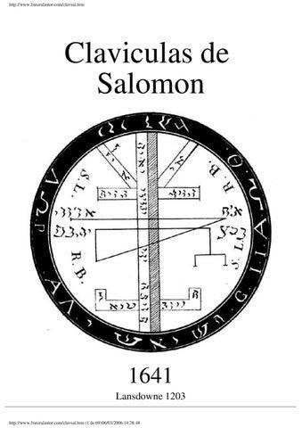 las caiculas de salomon